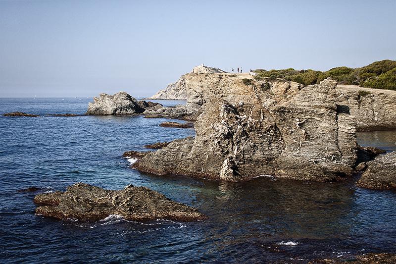 Die Küste um Le-Bruce Frankreich