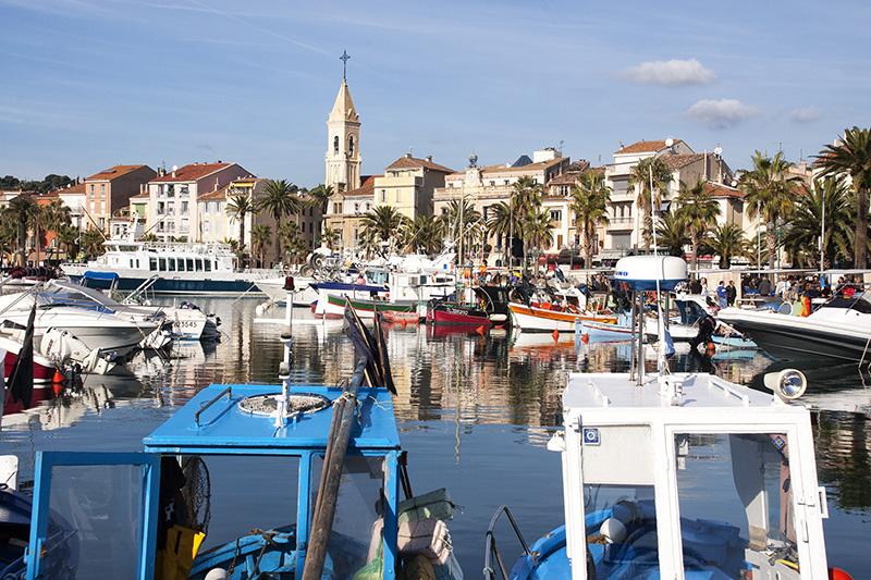 Der Hafen von Sanary-sur-Mer
