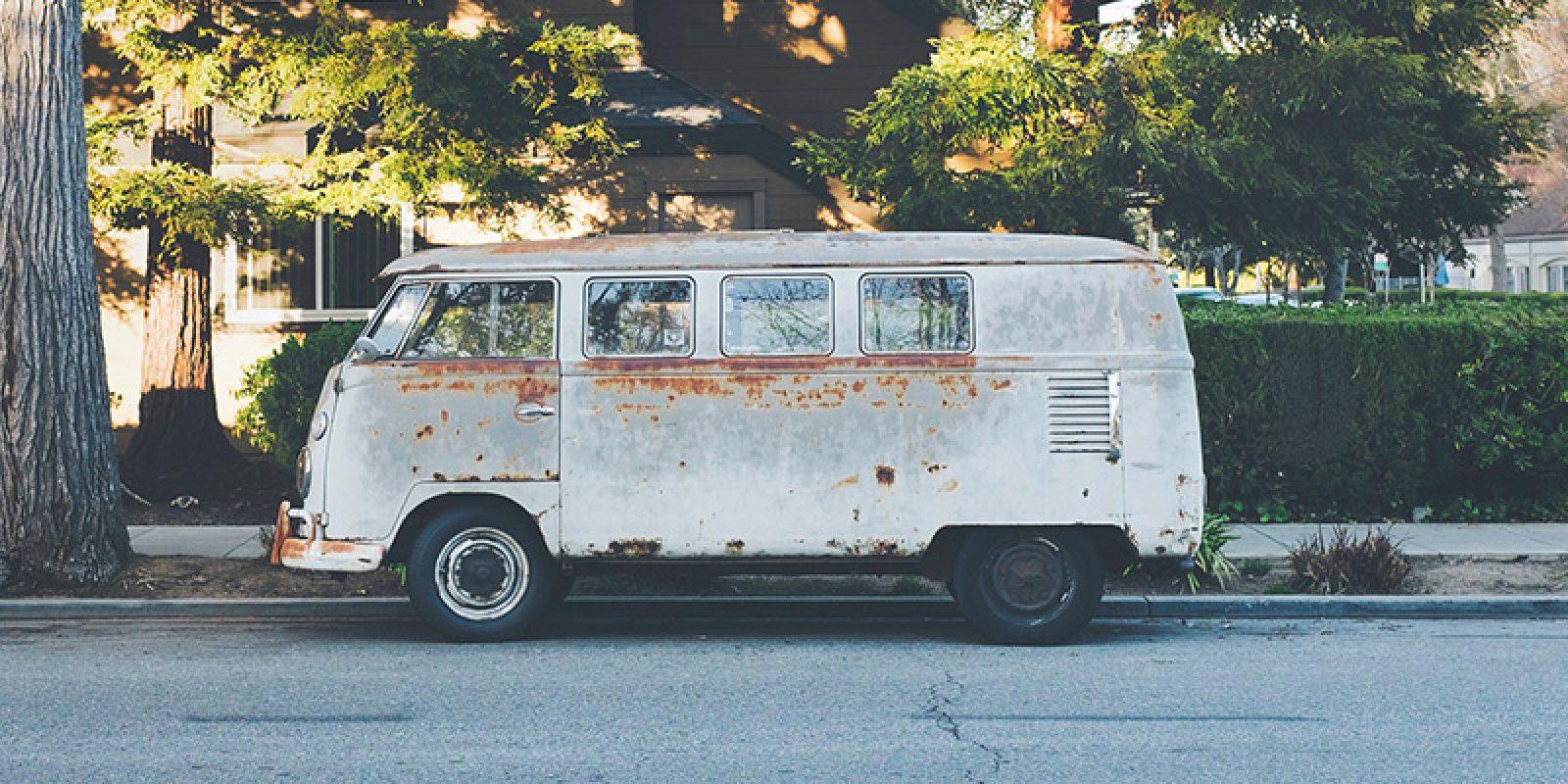 Vanlife im Bulli, ein alter VW T1