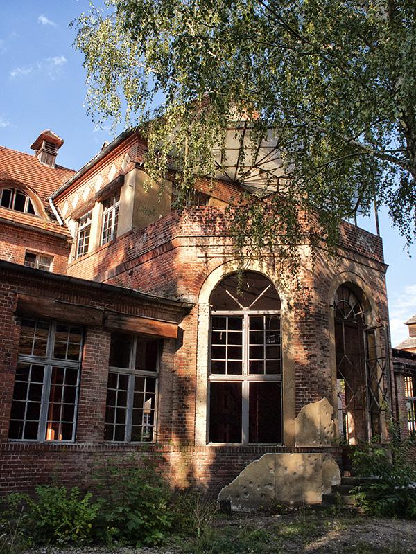 Das Verwaltungsgebäude der Volksheilstätten am Grabowsee