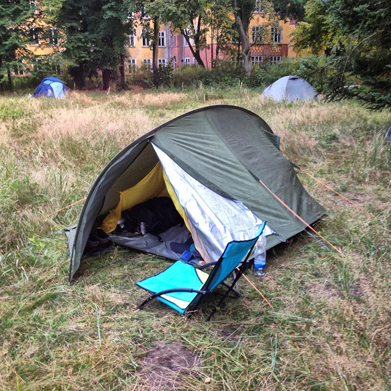 Mein Nachtlager in der Volksheilstätten am Grabowsee