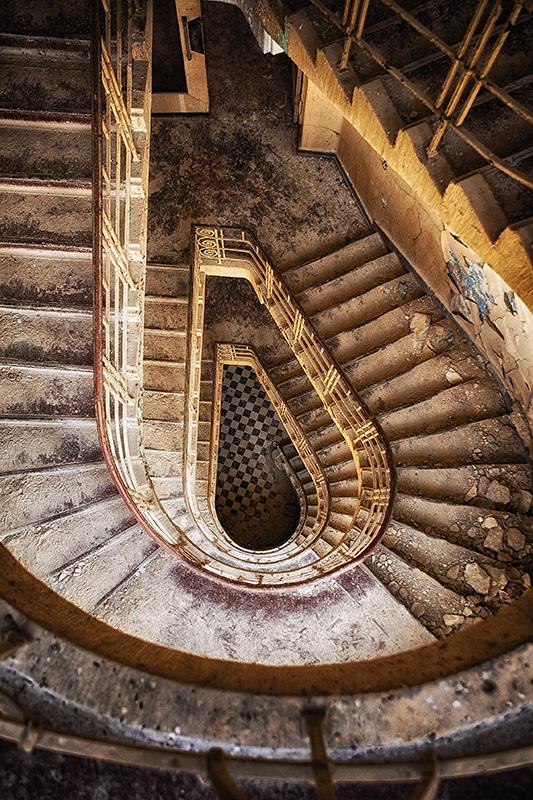 Treppenaufgang des Hauptgebäude in der Heilanstalt Hohenlychen