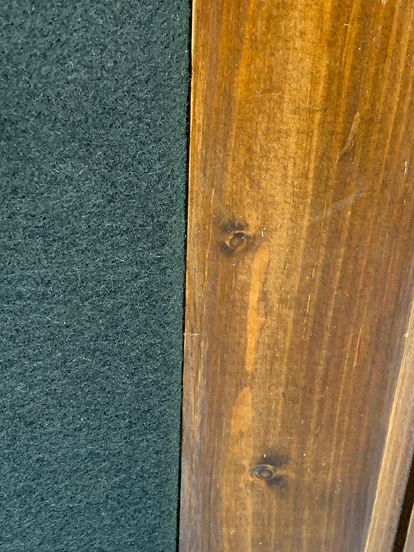 Bulliausbau Innenraum - Neue Decke Trift auf die alte Verkleidung