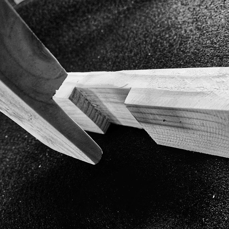 Holzverbindungen - Glatte Platte als Abzweigung