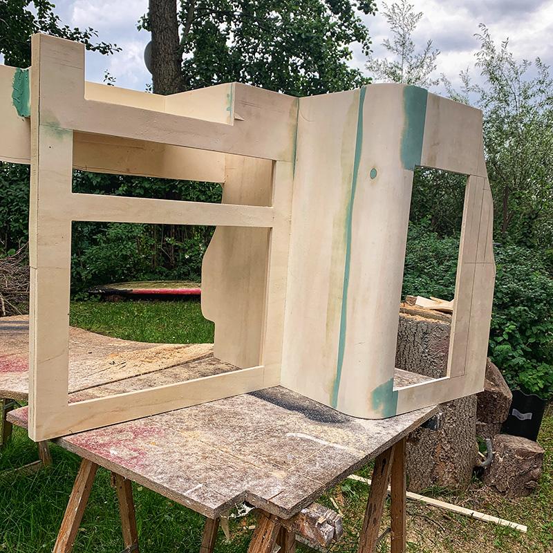 Der Möbelbau im Campervan - Der Küchenblock im Rohzustand